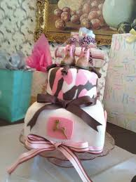 pink camo john deere boots baby shower cake cakecentral com