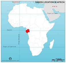 gabon in world map free gabon location map in africa gabon location in africa