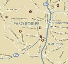 paso robles winery map and george s bed and breakfast voladores vineyard paso