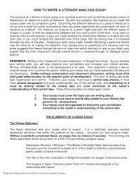 literary essay format literary analysis paper thebridgesummit