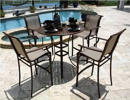 High Bistro Table Set Outdoor Outdoor High Bistro Table And Chairs Patio Furniture