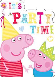 peppa pig birthday peppa pig invitations pack of 8 peeks