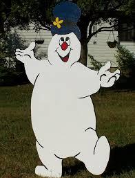 frosty the snowman wood yard decoration yard
