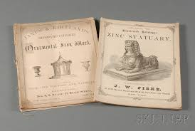 two illustrated trade catalogs zinc statuary and ornamental iron