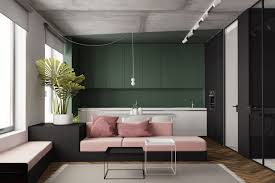 green apartment interior mesmerizing modern black and white studio