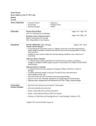 Example Social Work Resume by Hospital Social Worker Cover Letter