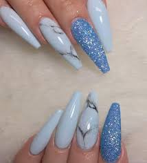 nail this sky blue set is everything hair nails and style