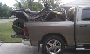 Dodge Truck With Ram Box - i am putting my 2 up atv in bed of short box pickup am i safe