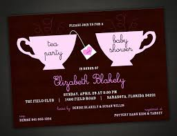 baby shower invitations attractive tea party baby shower