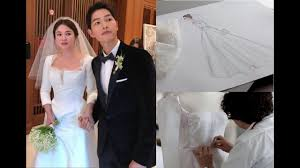 wedding dress song reveals of song hye kyo s wedding dress song joong ki