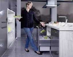 poubelle cuisine encastrable coulissante kit pédale ouverture poubelle accessoires de cuisine