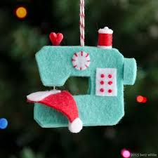 ho ho sew sewing machine ornament ornament designers and felting
