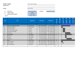 Excell Gantt Chart Template Free Gantt Chart Template