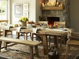 barn style dining room table of with pottery rooms incredible