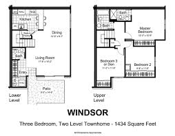 Two Level Floor Plans Townhomes For Rent In Plymouth Mn Fox Forest