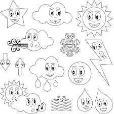 weather coloring pages for preschool eson me