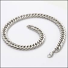 chunky link necklace images Stainless steel big chunky heavy cube curb link chain men 39 s jpg