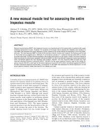 a new manual muscle test for assessing the entire trapezius muscle