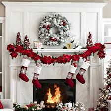 Decoration With Christmas Cards by Open Plan Living Space Holiday Decor Ideas