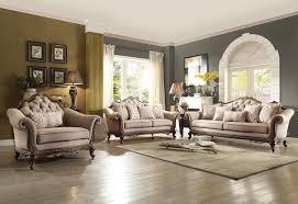 homelegance bonaventure park sofa set chenille brown 19359