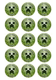 minecraft cake topper creeper minecraft cupcake toppers cake toppers