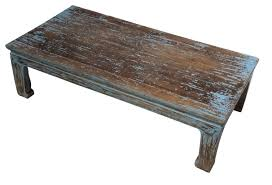 White Distressed Wood Coffee Table Fantastic Weathered Wood Coffee Table With Distressed Table