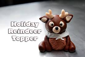 how to make an adorable holiday fondant reindeer topper cake