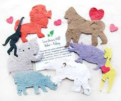 seed paper favors plantable seed paper animals flower seed favors recycled ideas