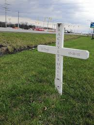 roadside memorials a cross a flower for comfort post tribune