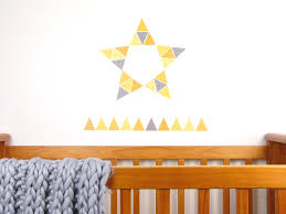 mustard yellow triangles wall decal stickytiki roll up roll up the summer fair is here these fun triangles are perfect to make bunting with or just make a fresh and funky wall design of your own
