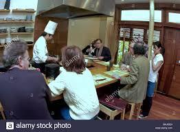 paris france interior japanese restaurant asian chef working