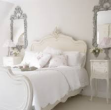 small bedroom ideas for teenage using white shabby chic decor with small bedroom ideas for teenage using white shabby chic decor with ornate silver mirror and elegant curvy headboard
