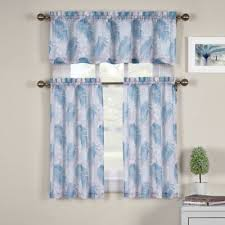 Bed Bath Beyond Kitchen Curtains Buy Blue Kitchen Tier Curtains From Bed Bath U0026 Beyond