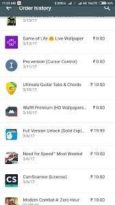 my google play order how to pay for a 0 00 in app purchase from google play store