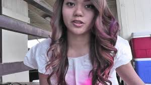 streaks u0027n tips temporary color spray pink u0026 purple tutorial youtube