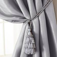 Rope Tiebacks For Curtains Elrene 24 In Tassel Tieback Rope Cord Window Curtain