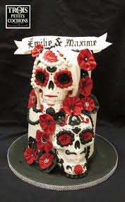 skull wedding cakes a skull wedding cake cakecentral