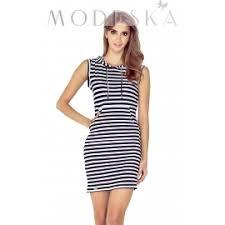 dress with hood and stripe print