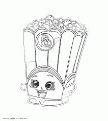 coloring pages poppy corn shopkins