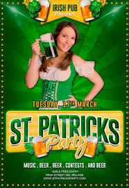 free st patricks party flyer psd template download free flyer