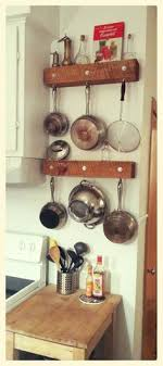 kitchen storage ideas for pots and pans pot racks towel bar and s hooks easy this idea for small