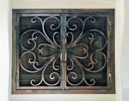 wrought iron fireplace screen binhminh decoration