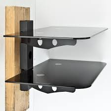 wall shelves design modern shelving for cable boxes on the wall
