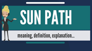 what is sun what does sun path sun path meaning definition