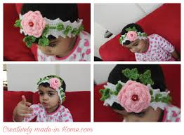 crochet flower headband crochet floral headband for baby creatively made in home