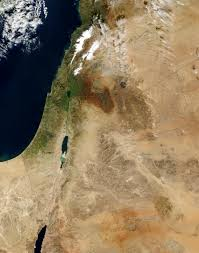 Middle East Map Israel by Nasa Visible Earth Middle East