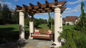 swing pergola swing arbor western timber frame