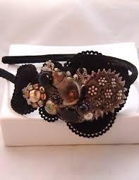 leather hair accessories fascinators leather headband vintage headbands tiara hair