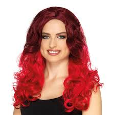 red ombre curly wig u0027s