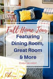 fall home tour featuring tabletop decor and more an alli event